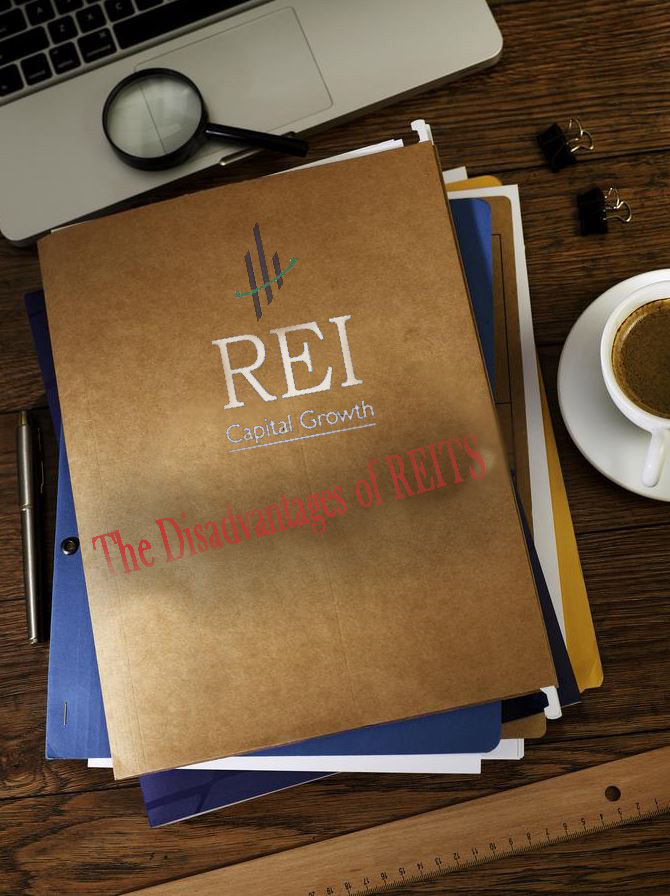 folder showing the disadvantages and cons of reits